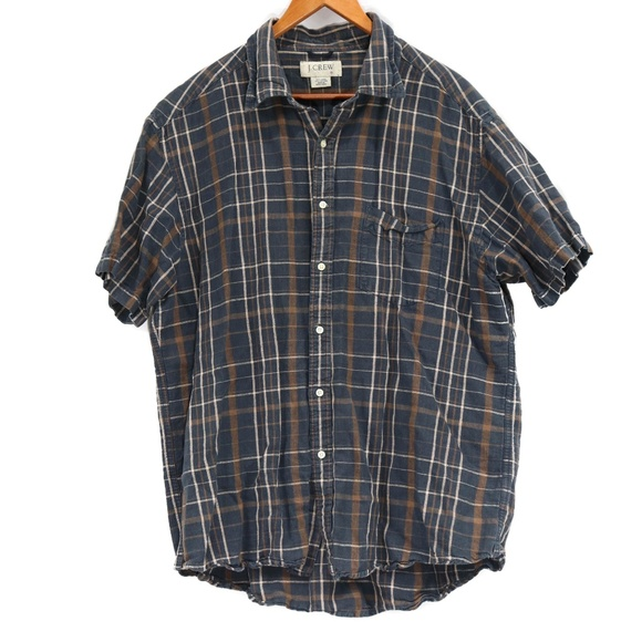 J. Crew Other - J. Crew Men's Plaid Linen Blend Button Up Shirt
